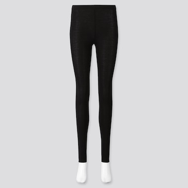 WOMEN SOFT TOUCH EXTENDED LENGTH LEGGINGS, BLACK, medium