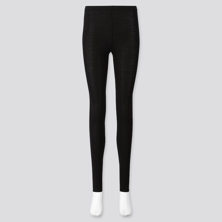 Women Soft Touch Extended Length Leggings, Black, Large