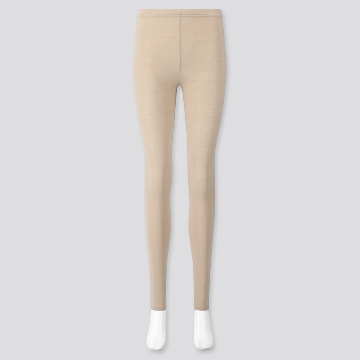 Women Soft Touch Extended Length Leggings, Beige, Large