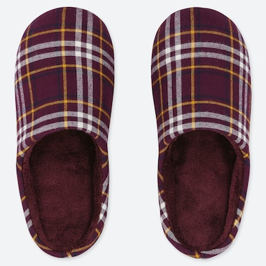 FLANNEL SLIPPERS, WINE, medium