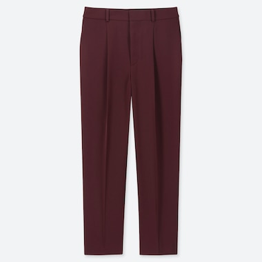 WOMEN DRAPE TAPERED ANKLE LENGTH TROUSERS (L27)