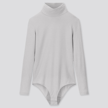 WOMEN HEATTECH EXTRA WARM RIBBED HIGH NECK THERMAL BODYSUIT