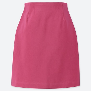 WOMEN STRETCH SATIN MINI SKIRT, PINK, medium