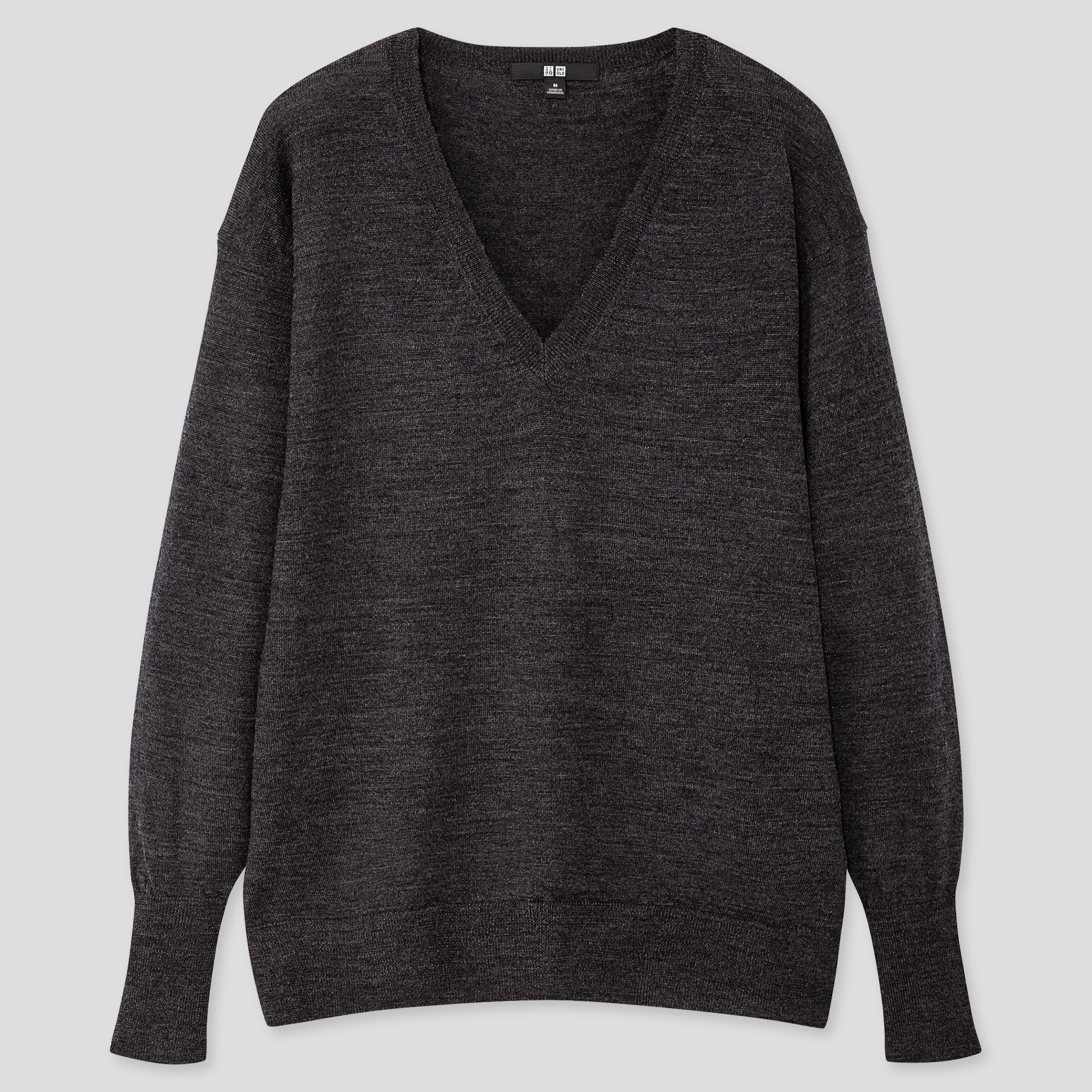 Women Extra Fine Merino Wool Relaxed Fit V Neck Jumper
