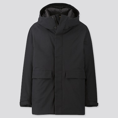MEN HYBRID DOWN PARKA, BLACK, medium