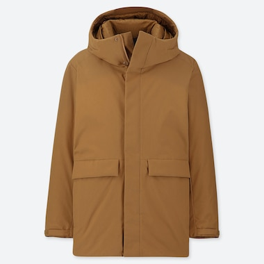 MEN HYBRID DOWN HOODED PARKA