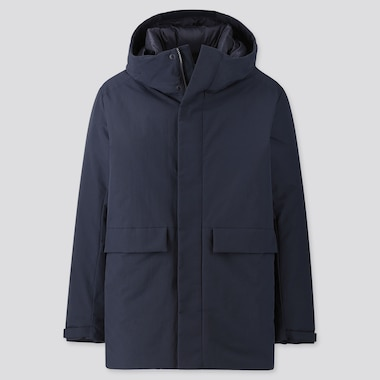 MEN HYBRID DOWN PARKA, NAVY, medium