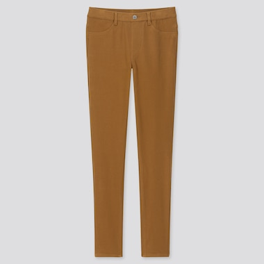 "WOMEN ULTRA STRETCH LEGGINGS PANTS (TALL 32"") (ONLINE EXCLUSIVE), BROWN, medium"