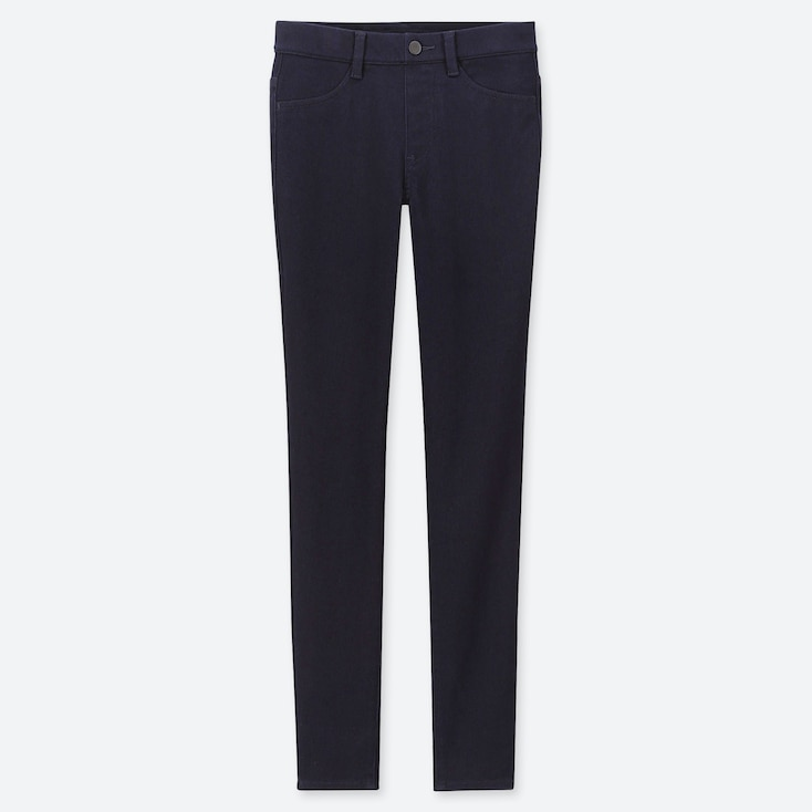 "WOMEN ULTRA STRETCH DENIM LEGGINGS PANTS (TALL 32"") (ONLINE EXCLUSIVE), NAVY, large"