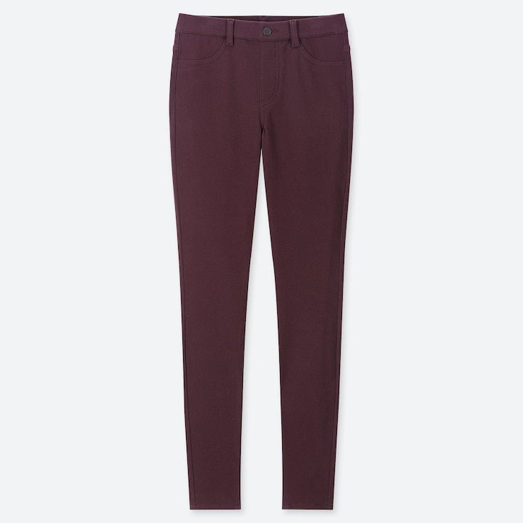 "Women Heattech Ultra Stretch Leggings Pants (tall 32"") (online Exclusive), Wine, Large"