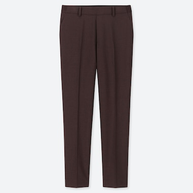 "WOMEN EZY ANKLE-LENGTH PANTS (TALL 30"") (ONLINE EXCLUSIVE), WINE, medium"