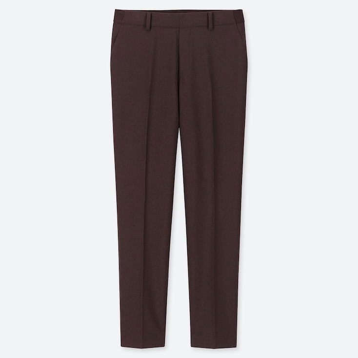"WOMEN EZY ANKLE-LENGTH PANTS (TALL 30"") (ONLINE EXCLUSIVE), WINE, large"