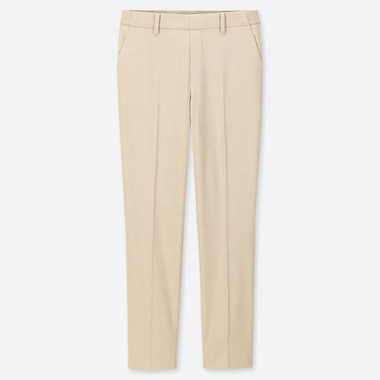 "WOMEN EZY ANKLE-LENGTH PANTS (TALL 30"") (ONLINE EXCLUSIVE), NATURAL, medium"