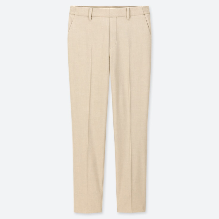 "WOMEN EZY ANKLE-LENGTH PANTS (TALL 30"") (ONLINE EXCLUSIVE), NATURAL, large"