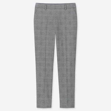 "WOMEN EZY GLEN CHECK ANKLE-LENGTH PANTS (TALL 30"") (ONLINE EXCLUSIVE), GRAY, medium"