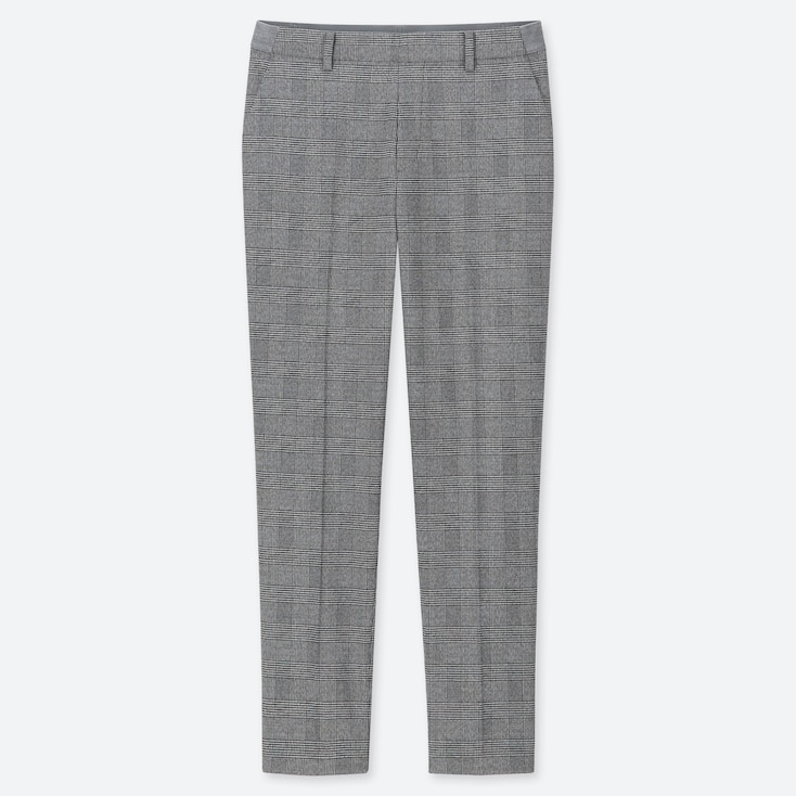 "WOMEN EZY GLEN CHECK ANKLE-LENGTH PANTS (TALL 30"") (ONLINE EXCLUSIVE), GRAY, large"