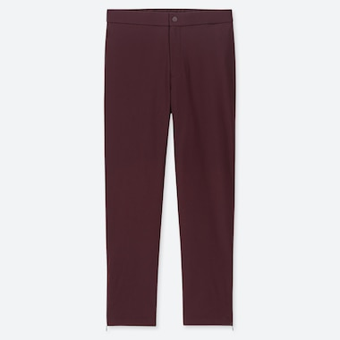 WOMEN HEATTECH WARM-LINED PANTS (ONLINE EXCLUSIVE), WINE, medium