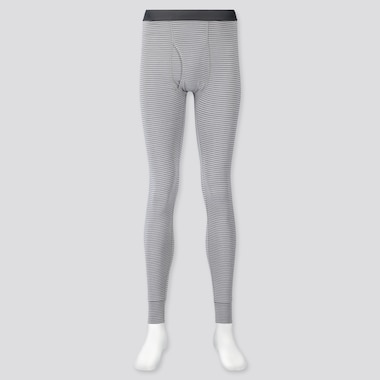 Men Heattech Long Johns, Gray, Medium