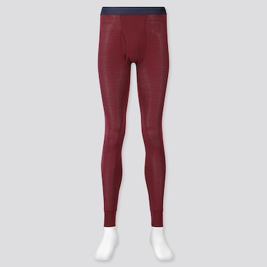 Men Heattech Long Johns, Wine, Medium