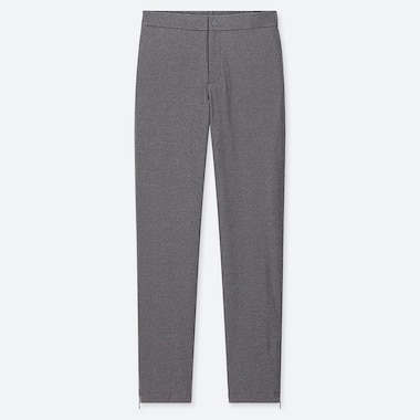 WOMEN HEATTECH WARM-LINED PANTS (LONG) (ONLINE EXCLUSIVE), DARK GRAY, medium
