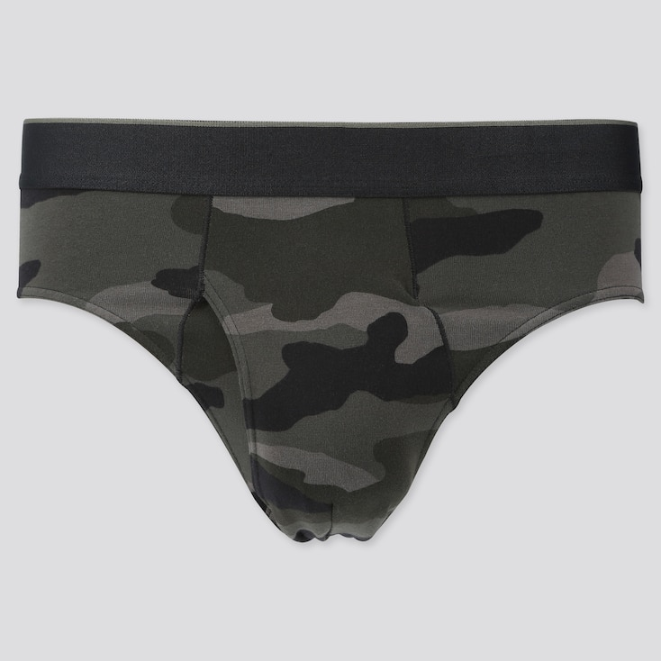 Men Supima® Cotton Briefs, Olive, Large