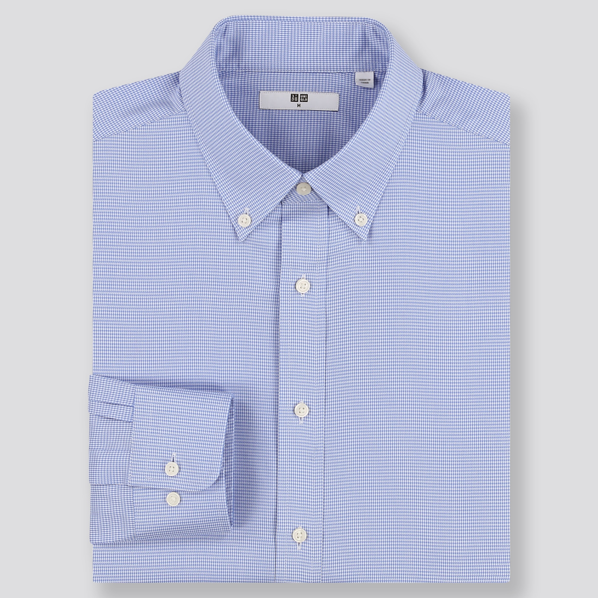 Men Easy Care Checked Regular Fit Long Sleeve Shirt (Online Exclusive) by Uniqlo