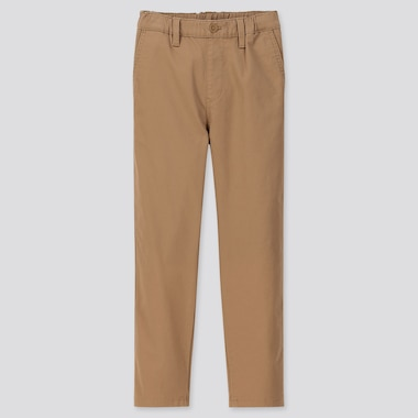 KIDS ULTRA STRETCH REGULAR-FIT CHINO PANTS, BROWN, medium
