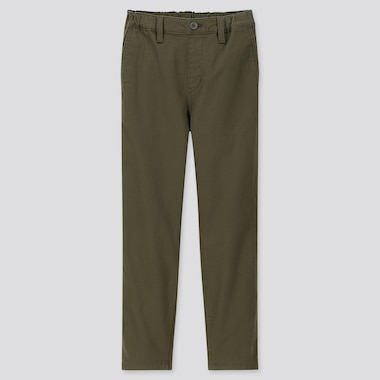 KIDS ULTRA STRETCH REGULAR-FIT CHINO PANTS, OLIVE, medium
