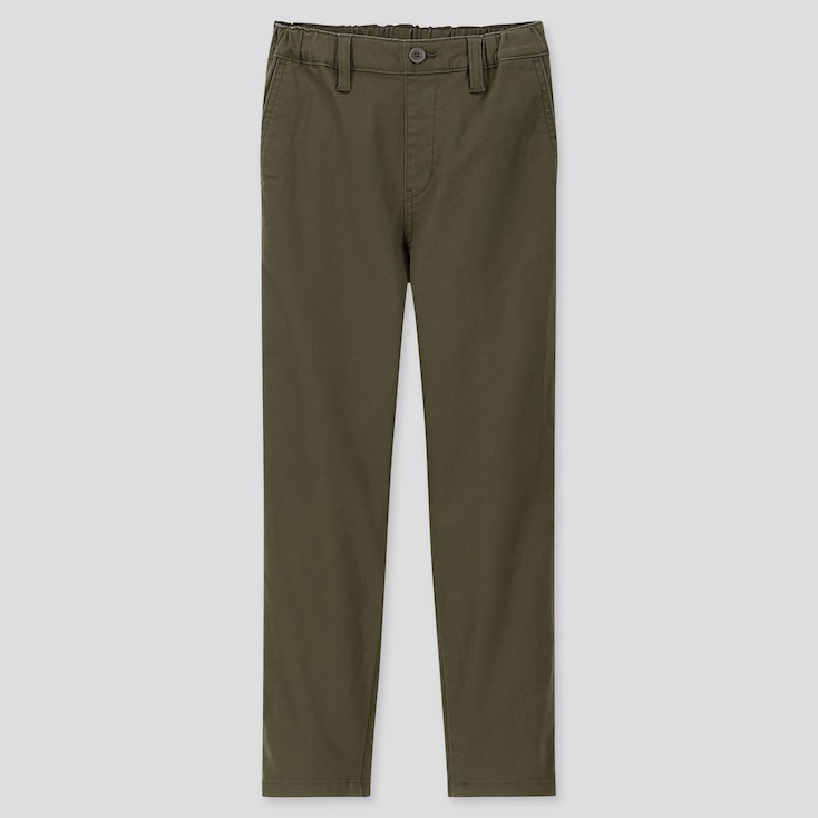 KIDS ULTRA STRETCH REGULAR-FIT CHINO PANTS, OLIVE, large