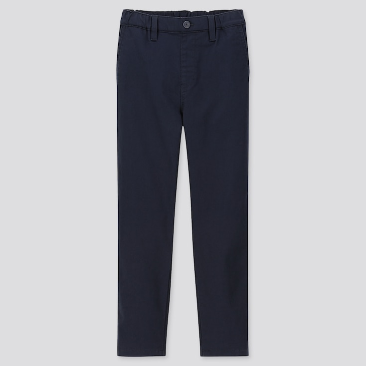 KIDS ULTRA STRETCH REGULAR-FIT CHINO PANTS, NAVY, large