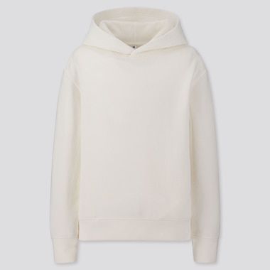 KIDS SWEAT PULLOVER HOODIE, OFF WHITE, medium
