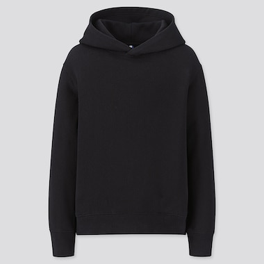 KIDS SWEAT PULLOVER HOODIE, BLACK, medium
