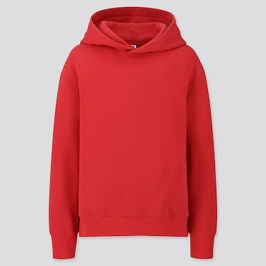 Kids Sweat Pullover Hoodie, Red, Medium