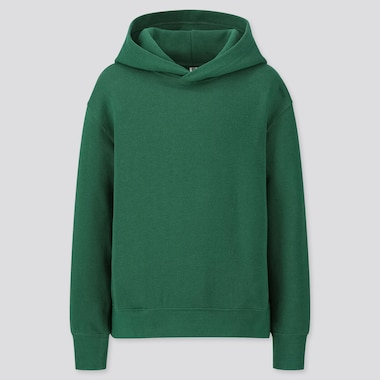 KIDS SWEAT PULLOVER HOODIE, GREEN, medium