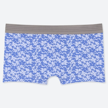 WOMEN FLORAL BOY SHORTS, LIGHT BLUE, medium