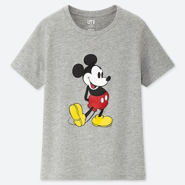 KIDS MICKEY STANDS UT (SHORT-SLEEVE GRAPHIC T-SHIRT), GRAY, medium