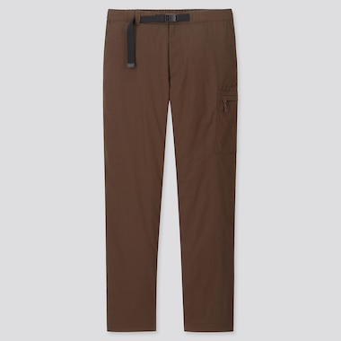 MEN HEATTECH WARM-LINED PANTS, BROWN, medium