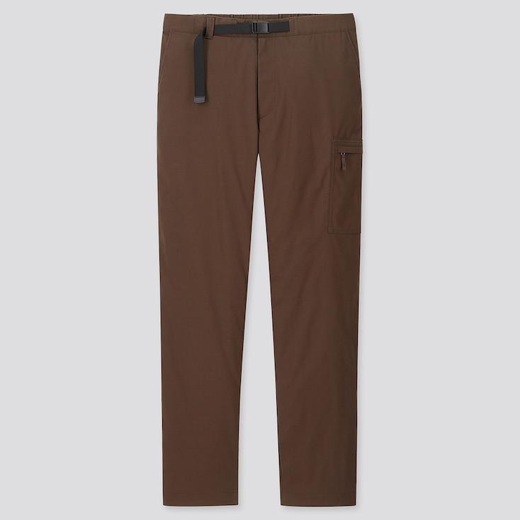 MEN HEATTECH WARM-LINED PANTS, BROWN, large