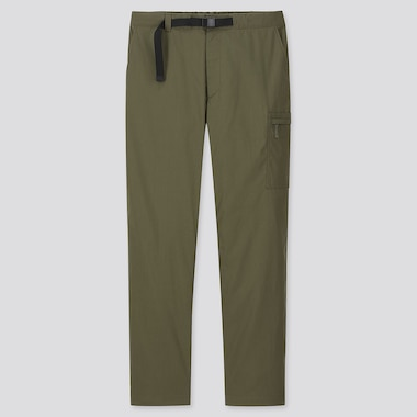 MEN HEATTECH WARM-LINED PANTS, DARK GREEN, medium