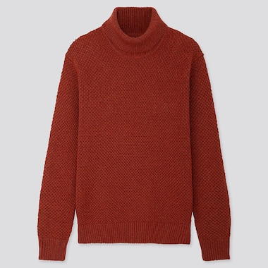 MEN MIDDLE GAUGE KNIT TURTLENECK JUMPER