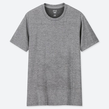 MEN DRY-EX HEATHER CREW NECK SHORT SLEEVED T-SHIRT