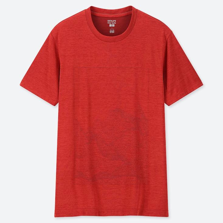 MEN DRY-EX PETER SAVILLE CREW NECK SHORT-SLEEVE T-SHIRT (ONLINE EXCLUSIVE), RED, large
