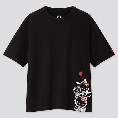 WOMEN SANRIO CHARACTERS UT (SHORT-SLEEVE GRAPHIC T-SHIRT), BLACK, medium