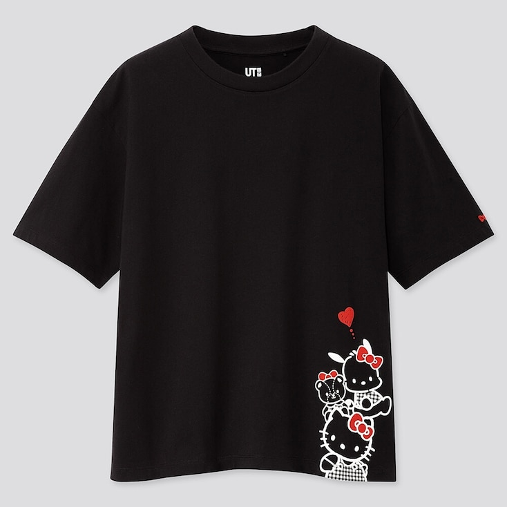 WOMEN SANRIO CHARACTERS UT (SHORT-SLEEVE GRAPHIC T-SHIRT), BLACK, large