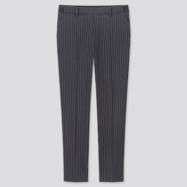 "WOMEN EZY STRIPED ANKLE-LENGTH PANTS (TALL 30"") (ONLINE EXCLUSIVE), NAVY, medium"