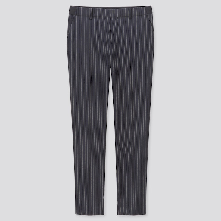 "WOMEN EZY STRIPED ANKLE-LENGTH PANTS (TALL 30"") (ONLINE EXCLUSIVE), NAVY, large"