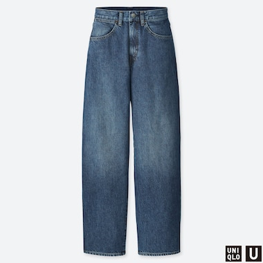 WOMEN UNIQLO U HIGH RISE WIDE LEG JEANS (L32)