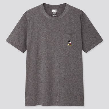 MICKEY STANDS UT (SHORT-SLEEVE GRAPHIC T-SHIRT), GRAY, medium