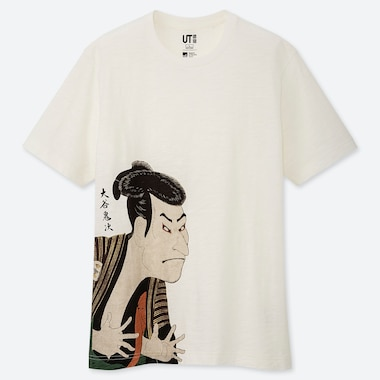 EDO UKIYO-E UT SHARAKU (SHORT-SLEEVE GRAPHIC T-SHIRT), OFF WHITE, medium
