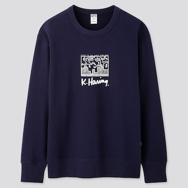 HERREN UT BEDRUCKTES SWEATSHIRT KEITH HARING PARTY OF LIFE